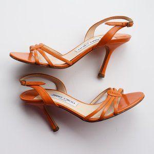 Jimmy Choo Slingback Sandals, Orange
